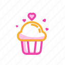 cupcake, food, gift, romantic, sweet, valentine's cake icon