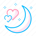 love, night, romance, romantic, soulmate, stars, valentine icon