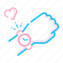 date, dating, love, ready, time, valentine's time icon