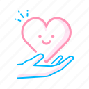 care, hands, heart, love, love care, romance, valentines icon
