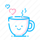 coffee, dating, heart, hot, love, romantic, valentine icon