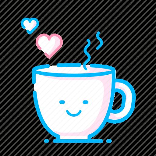 coffee, dating, heart, hot, love, romantic, valentine icon