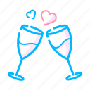 date, dating, dinner, drink, love, restaurant, valentine icon