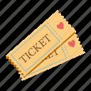 cinema, love, movie, romance, tickets, valentines