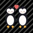 couple, love, penguins, romance, romantic, valentine
