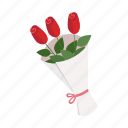 flowers, roses icon