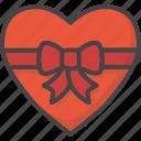box, colored, heart, holidays, love, ribbon, valentines icon