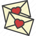 colored, heart, holidays, letter, love icon