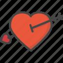 arrow, colored, cupid, heart, holidays, love icon