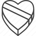 day, heart, holidays, line, love, outline, valentines icon