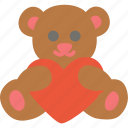 bear, day, holidays, love, present, toy, valentines icon
