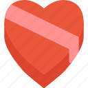 box, chocolate, day, heart, holidays, love, valentines icon