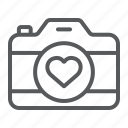 camera, heart, love, photo, photography, valentine, wedding icon