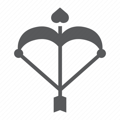 arrow, bow, cupid, heart, love, romantic, valentine icon