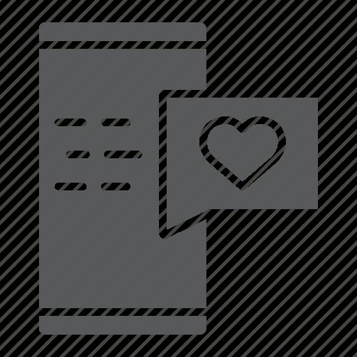 Chat, heart, love, message, romance, smartphone, valentine icon - Download on Iconfinder