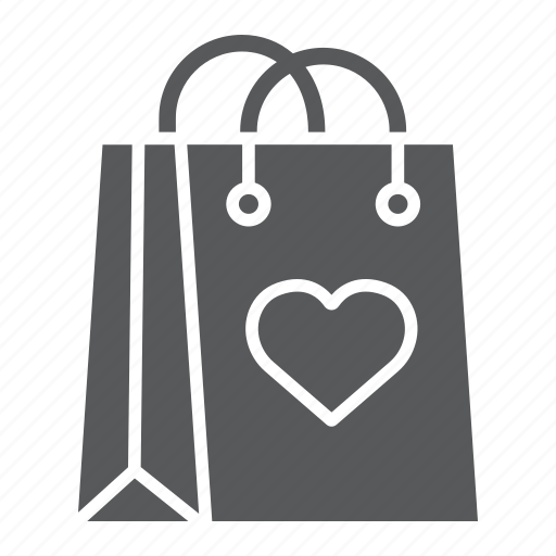 Bag, gift, heart, love, package, paper, shopping icon - Download on Iconfinder