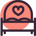 bed, heart, love, relationship, romantic, sleep, wedding icon