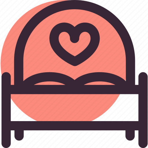bed, heart, love, relationship, romantic, sleep, wedding icon