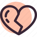 broken, divorce, heart, love, romantic, valentine icon