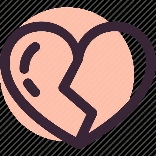 broken, divorce, heart, love, romantic, valentine icon