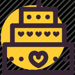 cake, heart, love, valentine, valentine's day, wedding icon