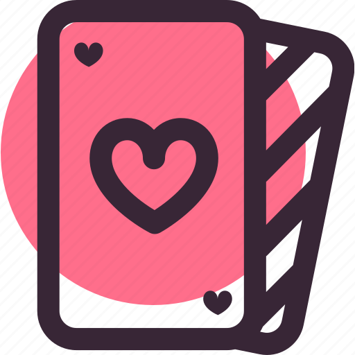 card, cards, heart, love, playing, valentine's day icon