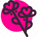 flowers, gift, heart, love, relationship, valentine's day icon
