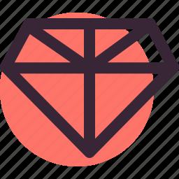 diamond, gem, jewellery, love, valentine's day, wedding icon