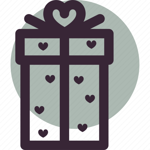 gift, heart, love, package, valentine's day, wrapped icon