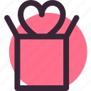 gift, heart, love, package, relationship, wedding icon