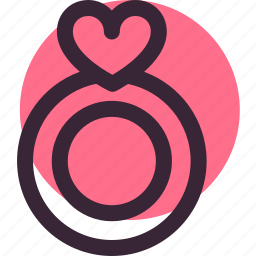 heart, love, relationship, ring, shape, wedding icon