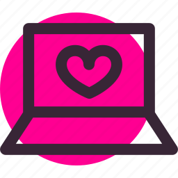 chat, laptop, love, relationship, valentine's day, wedding icon