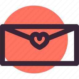 envelope, heart, letter, love, lovers, relationship icon