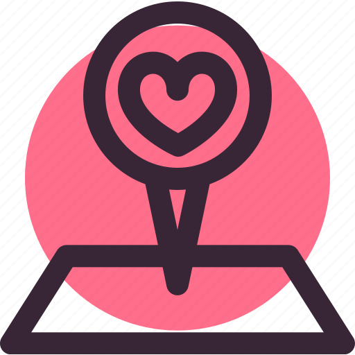heart, location, love, map, pin, place, wedding icon