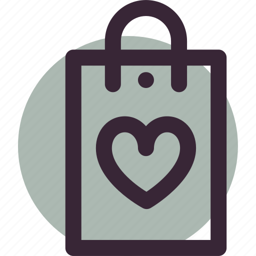 bag, gift, love, package, shop, shopping icon
