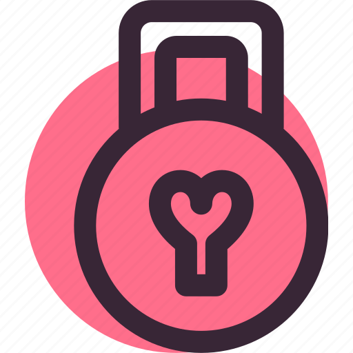 heart, lock, love, relationship, secure, valentine's day icon