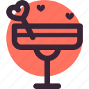 cocktail, date, drink, heart, love, martini icon