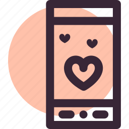 date, love, mobile, relationship, sms, valentine's day icon