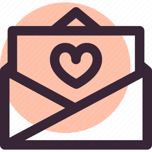 envelope, invitation, letter, love, open, relationship, wedding icon