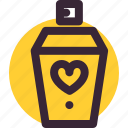gift, love, perfume, relationship, valentine's day, wedding icon