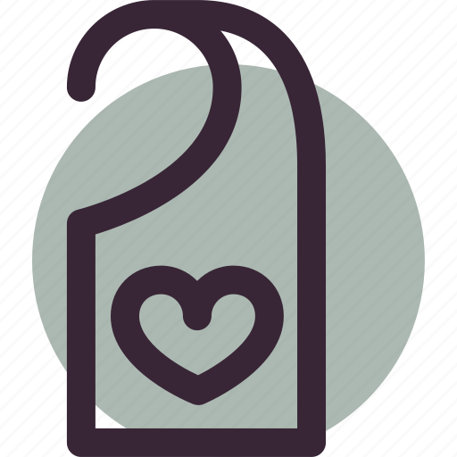 door, heart, hotel, love, tag icon