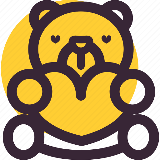 bear, gift, heart, love, lovers, teddy, valentine's day icon
