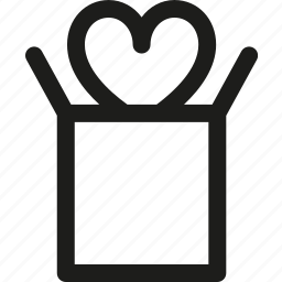 gift, heart, love, package, relationship, valentine's day icon