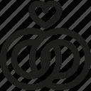 heart, love, relationship, rings, wedding, valentine's day