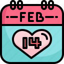 appointment, calendar, date, event, february, heart, valentine icon