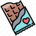 chocolate, dessert, favourite, gift, present, sweet, valentine icon