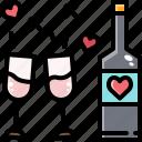 alcohol, beverage, bottle, celebration, drink, party, valentine
