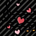 audio, heart, love, music, song, sound, valentine