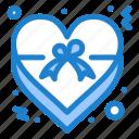 heart, insignia, love, ribbon icon