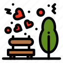 garden, love, park, picnic icon